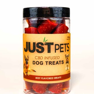 Pet Dog Treats: Beef Wrap 100mg